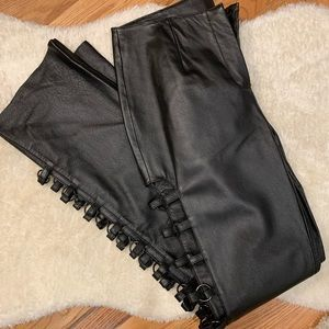 90's grunge leather pants